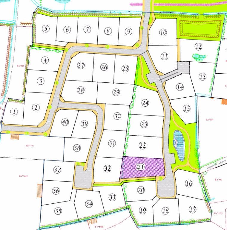 Terrain 824 m2 Châteauneuf